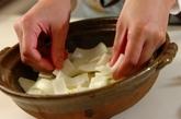 豚肉と白菜のチーズ鍋の作り方1