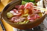 豚肉と白菜のチーズ鍋の作り方5