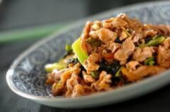 豚肉と小松菜のショウガ焼き