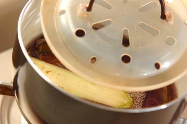 長ナスの含め煮の作り方の手順3