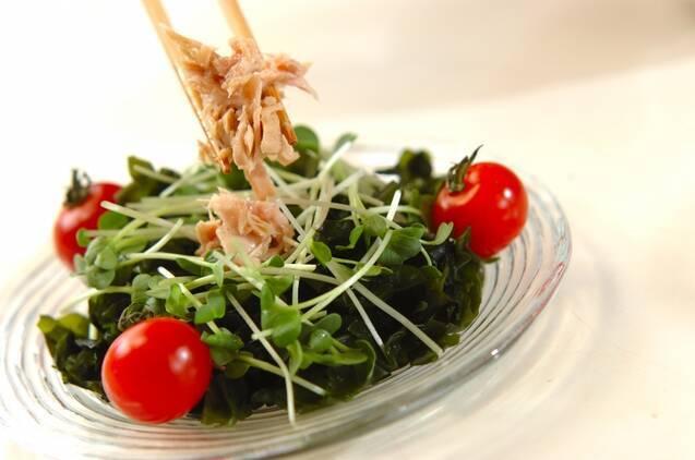 長芋とワカメのサラダの作り方の手順6