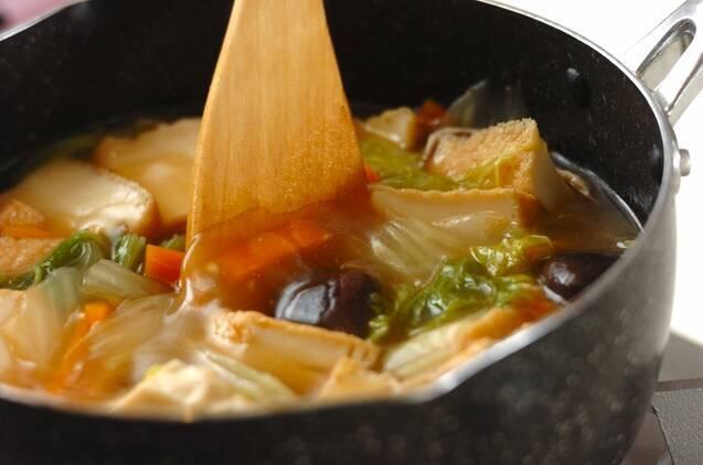 とろとろ白菜と厚揚げの中華風うま煮の作り方の手順4