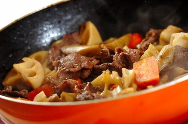 牛肉と根菜の煮物の作り方の手順7