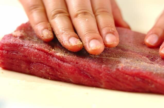 赤ワインキノコのローストビーフ丼の作り方の手順1