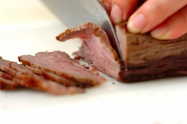 赤ワインキノコのローストビーフ丼の作り方の手順4