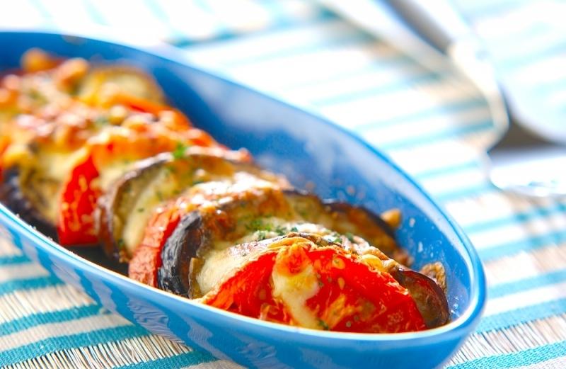 なす&トマトオーブン焼き