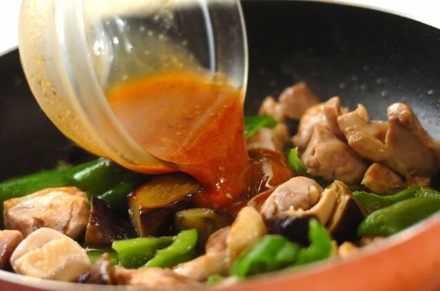 鶏とナスのコク旨みそ丼の作り方の手順4