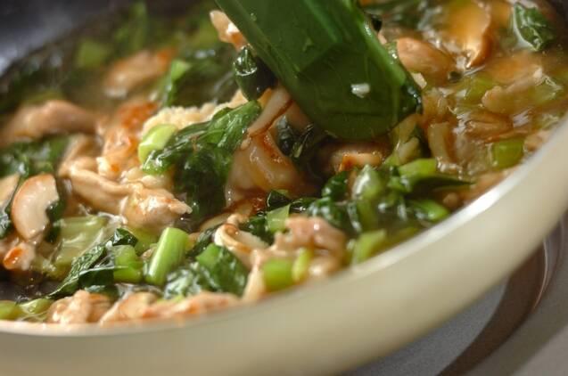 小松菜とホタテの中華風あんかけご飯の作り方の手順6