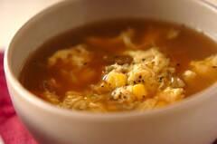 ザーサイとコーンのスープ