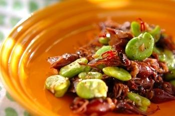 ソラ豆とホタルイカのペペロンチーノ