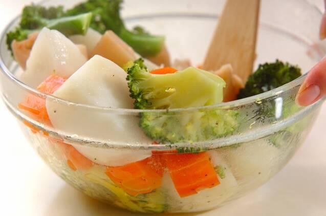 蒸し野菜のホットサラダの作り方の手順5