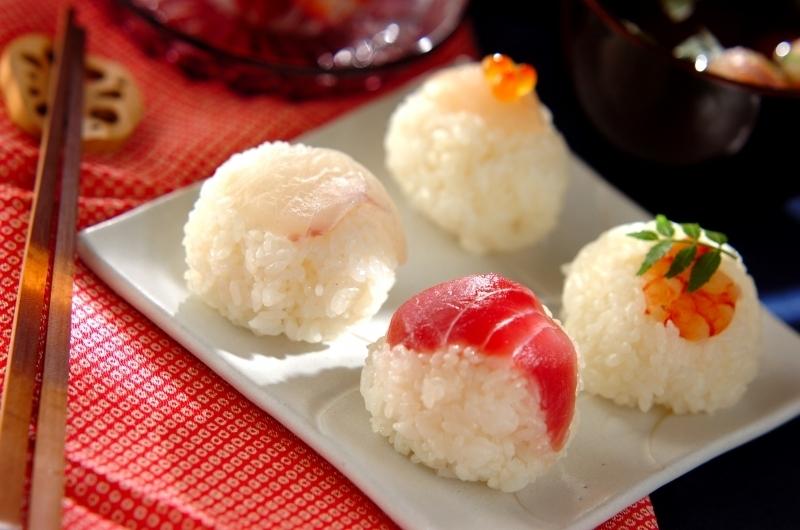彩り華やか手まり寿司