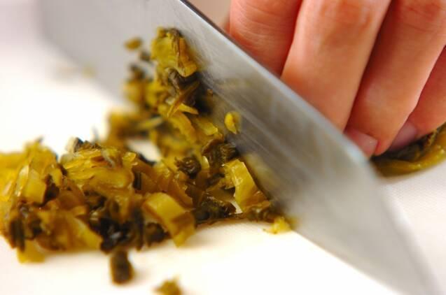 高菜とジャコのチャーハンの作り方の手順1