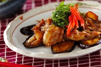 豚肉とナスの蒲焼風
