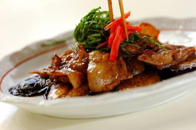 豚肉とナスの蒲焼風の作り方の手順5