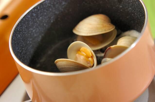 うまみたっぷり!ホンビノス貝のお吸い物の作り方の手順3