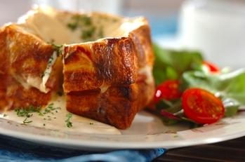 デニッシュ食パンでクロックムッシュ
