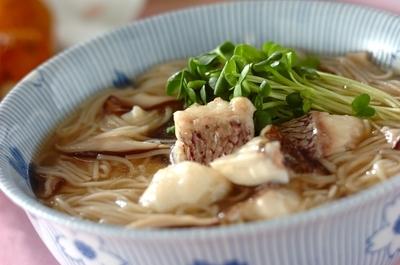 鯛にゅうめん レシピ 作り方 E レシピ 料理のプロが作る簡単レシピ