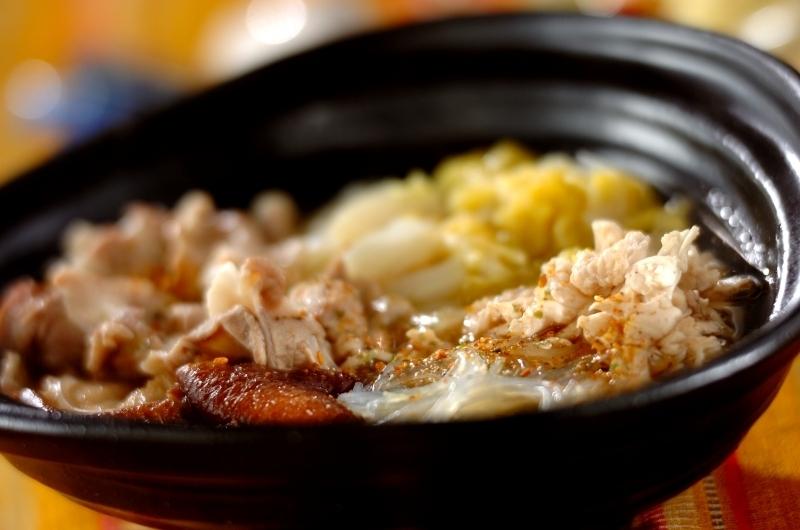 白菜と春雨のピェンロー鍋