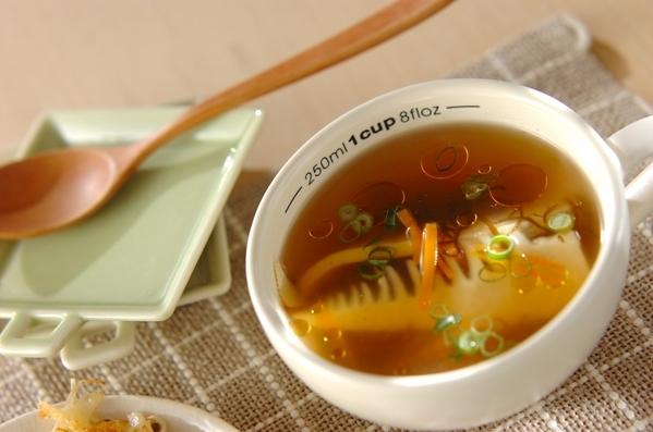 たけのこともずくのスープ