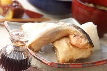 魚のカマの塩焼き