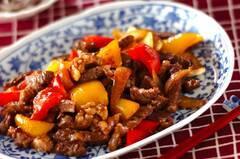 牛肉とパプリカのしょうゆ炒め