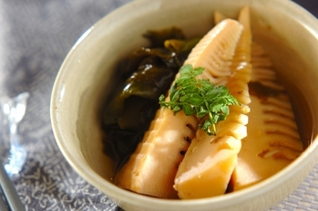 あっさり若竹煮(タケノコとワカメの煮物)
