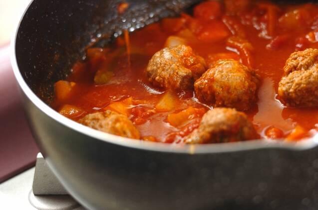 肉団子のトマト煮の作り方の手順3