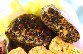 ヒジキと豆腐の照り焼きバーグ