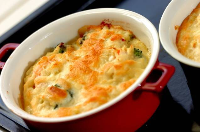 エビとブロッコリーの豆腐グラタンの作り方の手順8