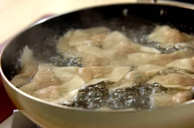 水餃子の作り方の手順3