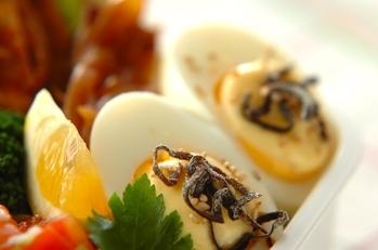 塩昆布ゆで卵