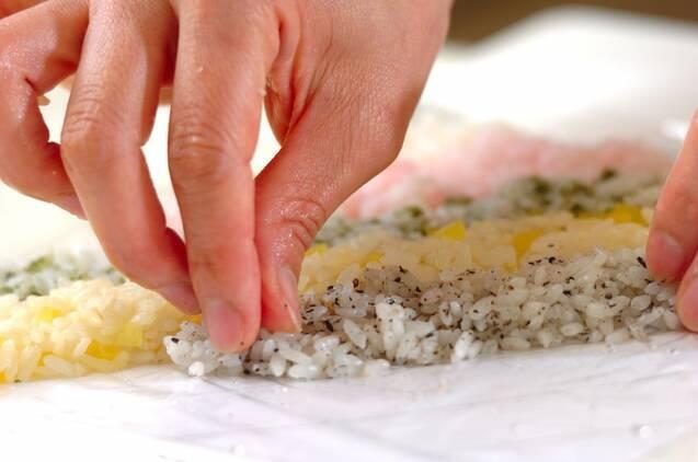 カラフル太巻き寿司の作り方の手順7