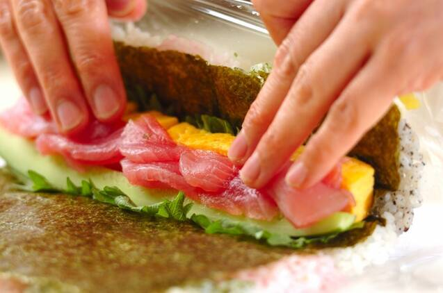カラフル太巻き寿司の作り方の手順8