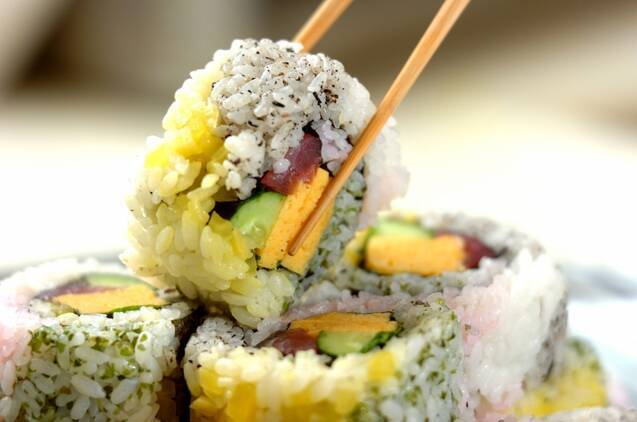 カラフル太巻き寿司の作り方の手順9