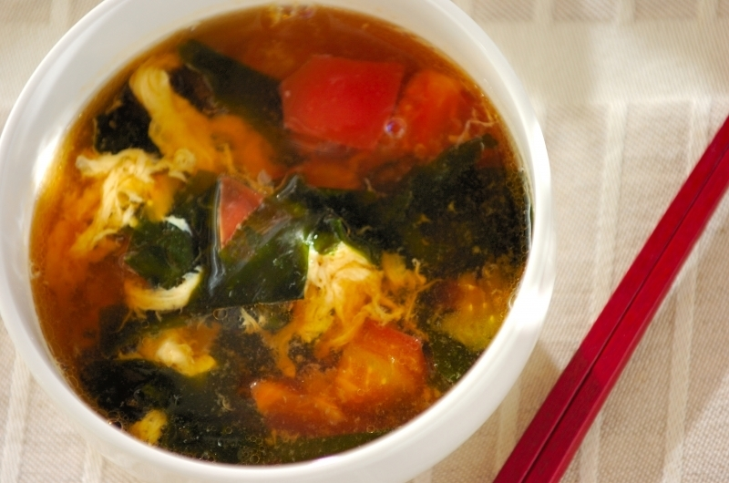 3. トマトとワカメのスープ