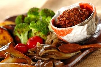 焼き野菜の肉みそディップ