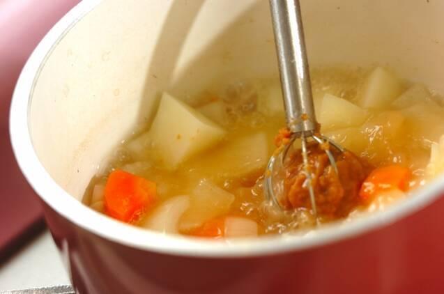 冷しゃぶ・具だくさんみそ汁の作り方の手順4