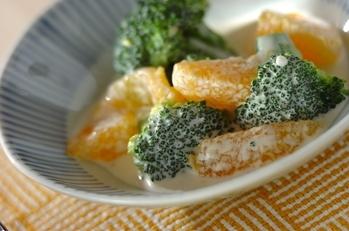 ブロッコリーとオレンジのサラダ