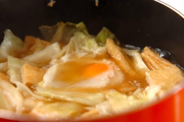 キャベツの卵とじの作り方の手順3