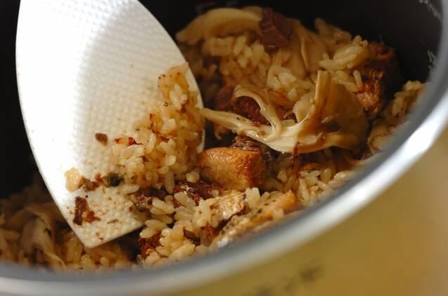 イワシの炊き込みご飯の作り方の手順3