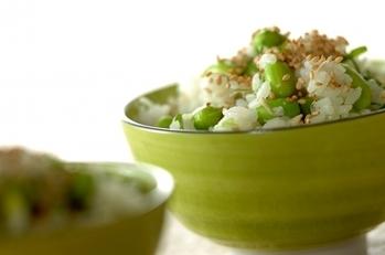 枝豆とジャコの混ぜご飯