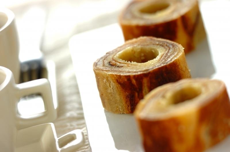 卵焼き器で作る簡単バームクーヘン