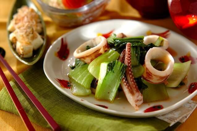 イカと青梗菜の塩麹炒め
