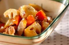 作り置き!麺つゆで鶏肉と根菜の煮物
