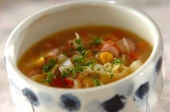 漬物入り具だくさんスープ