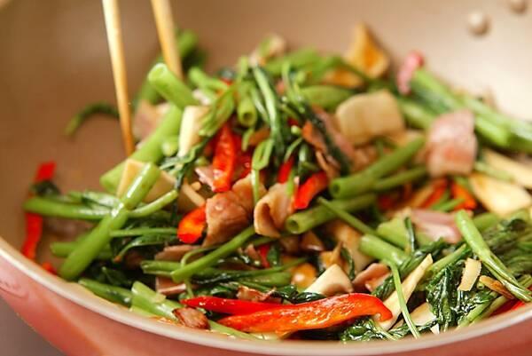 空心菜の炒め物の作り方の手順8
