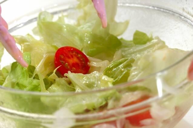 レタスのサラダの作り方の手順3