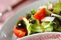 ユズコショウドレッシングのサラダ