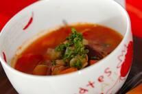 ベーコンと豆のスープ